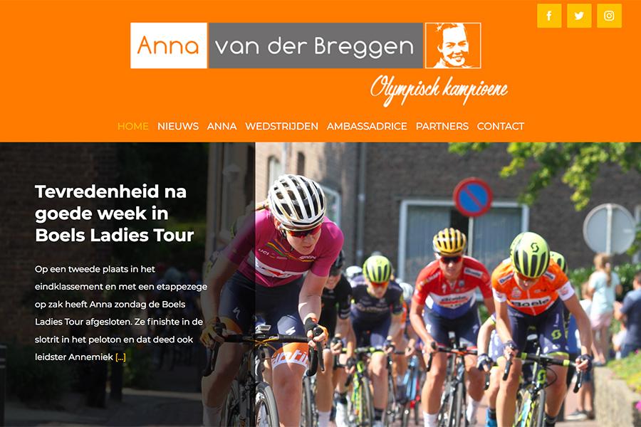 Website Anna van der Breggen