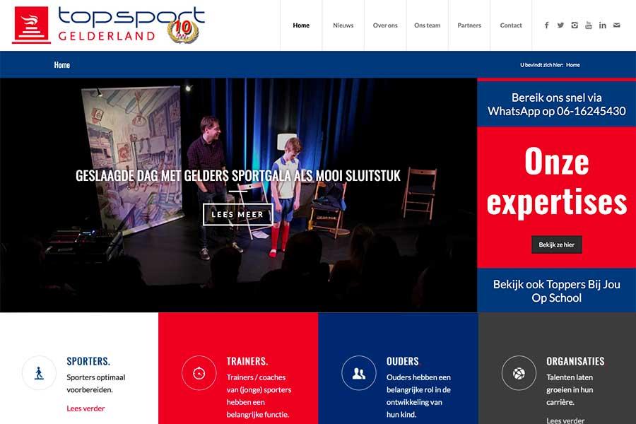 Website Topsport Gelderland