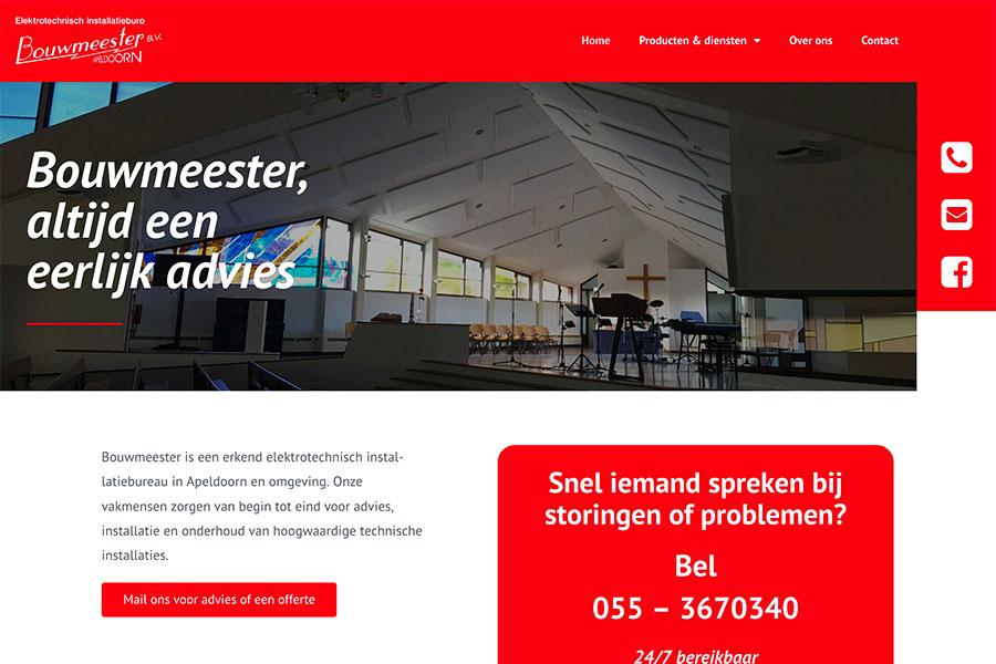 Website Bouwmeester installatietechniek