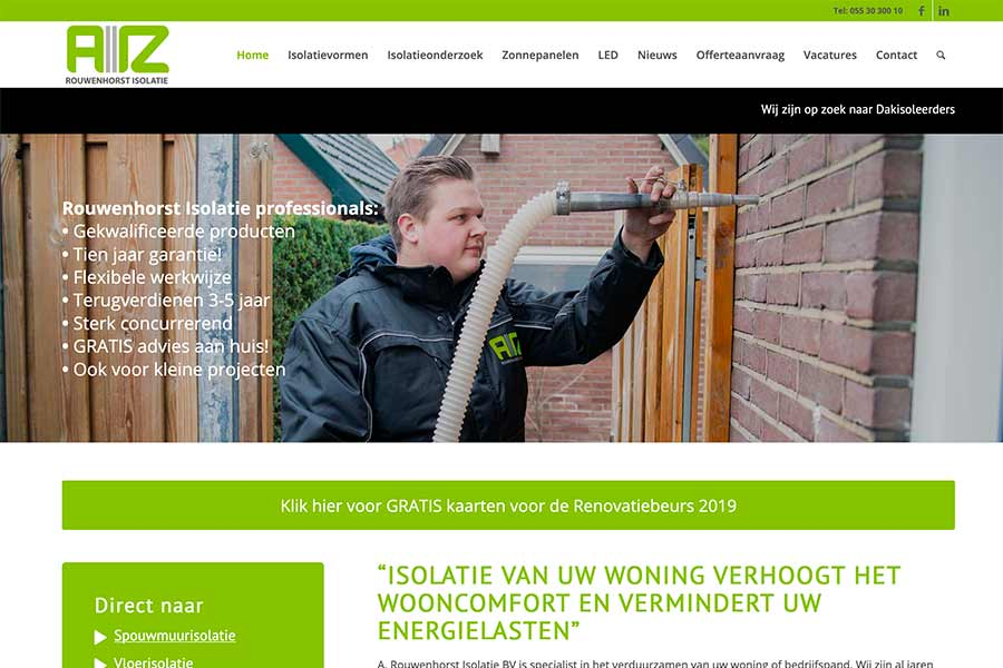 Website Rouwenhorst isolatie